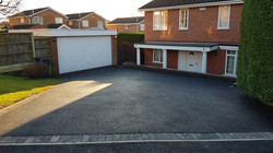 D35  Tarmac Driveway Surfacing with Charcoal Block Border at Walton in Chesterfield