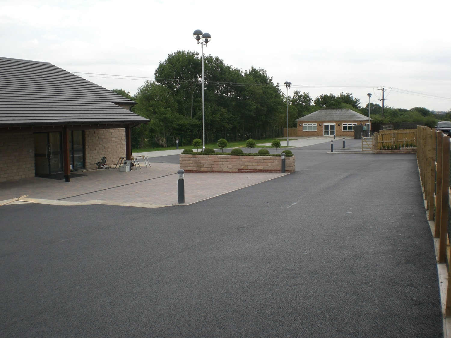 F13 Tarmac Surfacing to Church Car Park at Wingerworth in Chesterfield