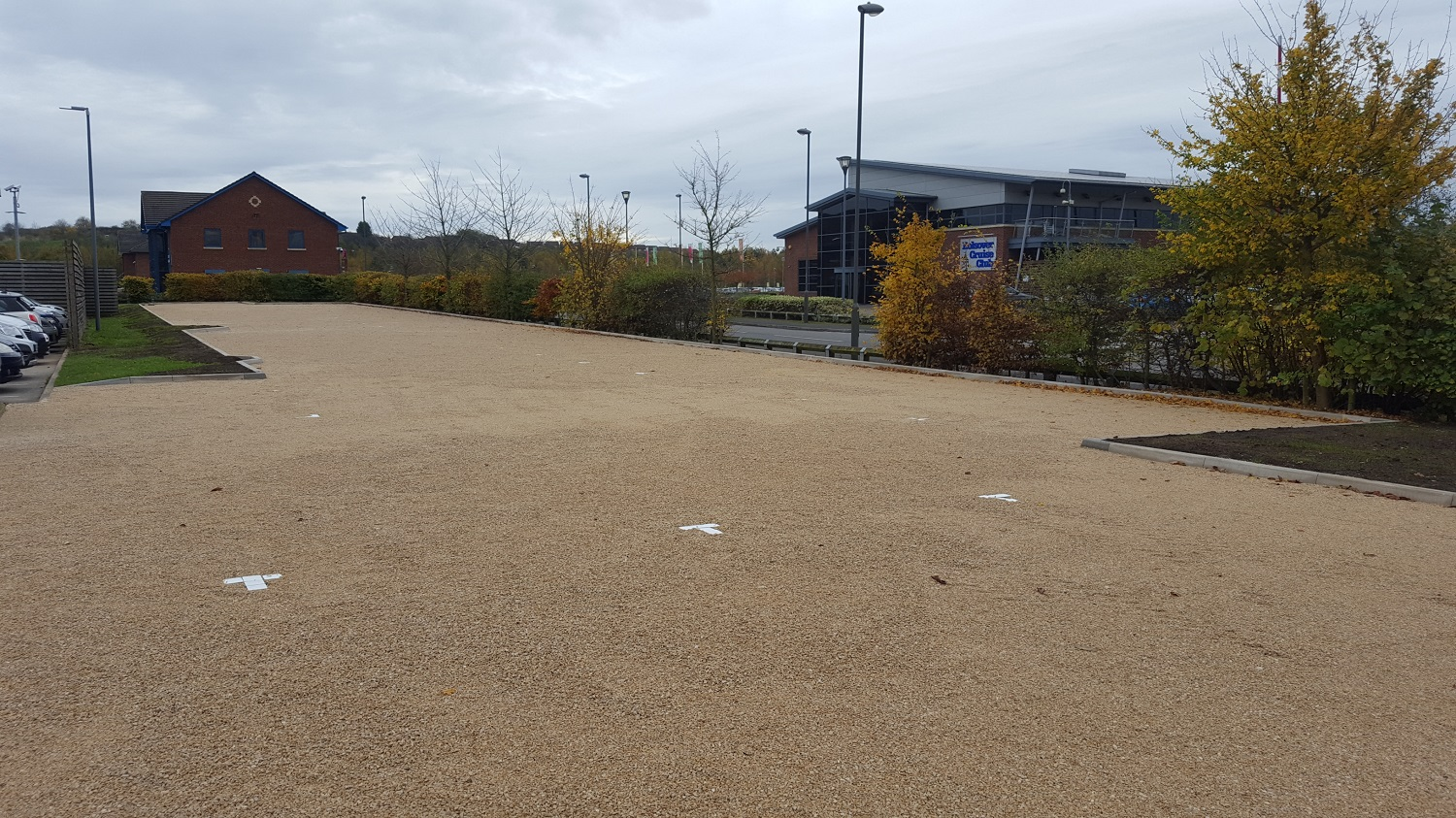 F23 Construction and Gravel Grids to Car Park Extension at NHS Treatment Centre in Barlborough