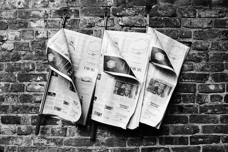 News Page Header Image - Newspaper Rack