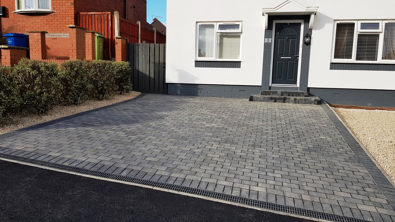 C38 Plaspave Premia Granite Stone Block Paving Driveway at Boythorpe in Chesterfield