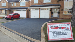 D5  Tarmac Driveway Surfacing with Buff Block Border at Hasland in Chesterfield