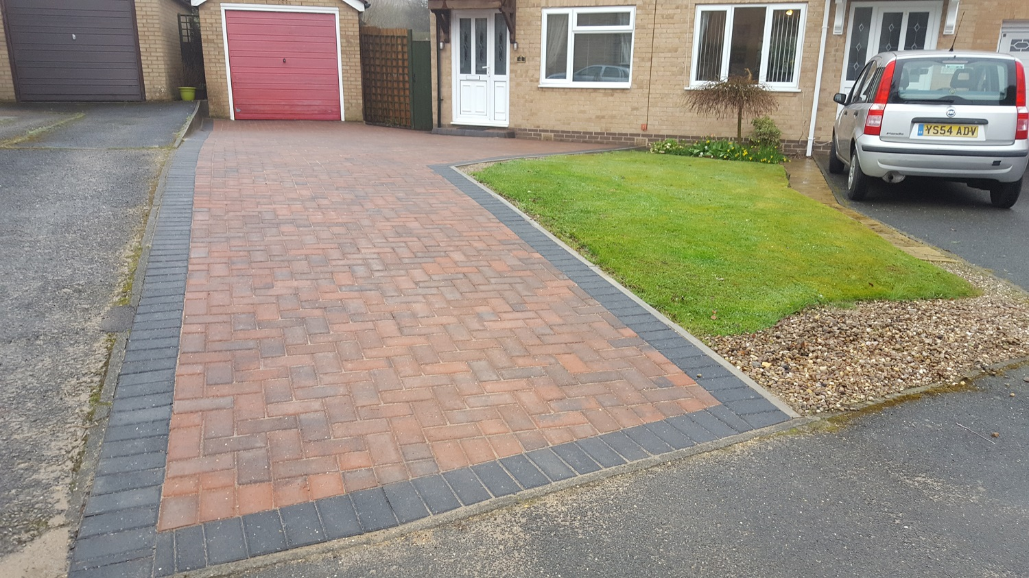 C19 Plaspave Brindle Block Paving Driveway at Walton in Chesterfield