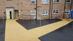 P17 Tarmac and Resin Bound Surfacing to Drying Area at Loundsley Green in Chesterfield