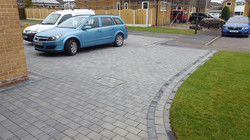 C16 Plaspave Premia Granite Stone Block Paving Driveway at Dronfield