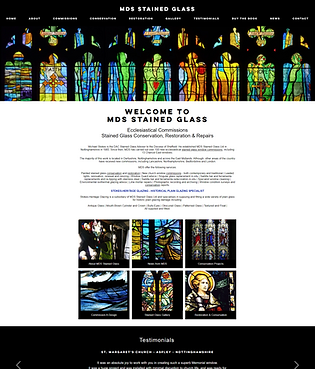 MDS Stained Glass Website Design