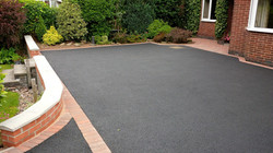 D23  Tarmac Driveway Surfacing with Brindle Block Border at Walton in Chesterfield