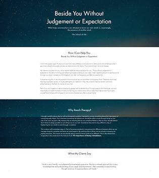 Reach Therapy Website Design