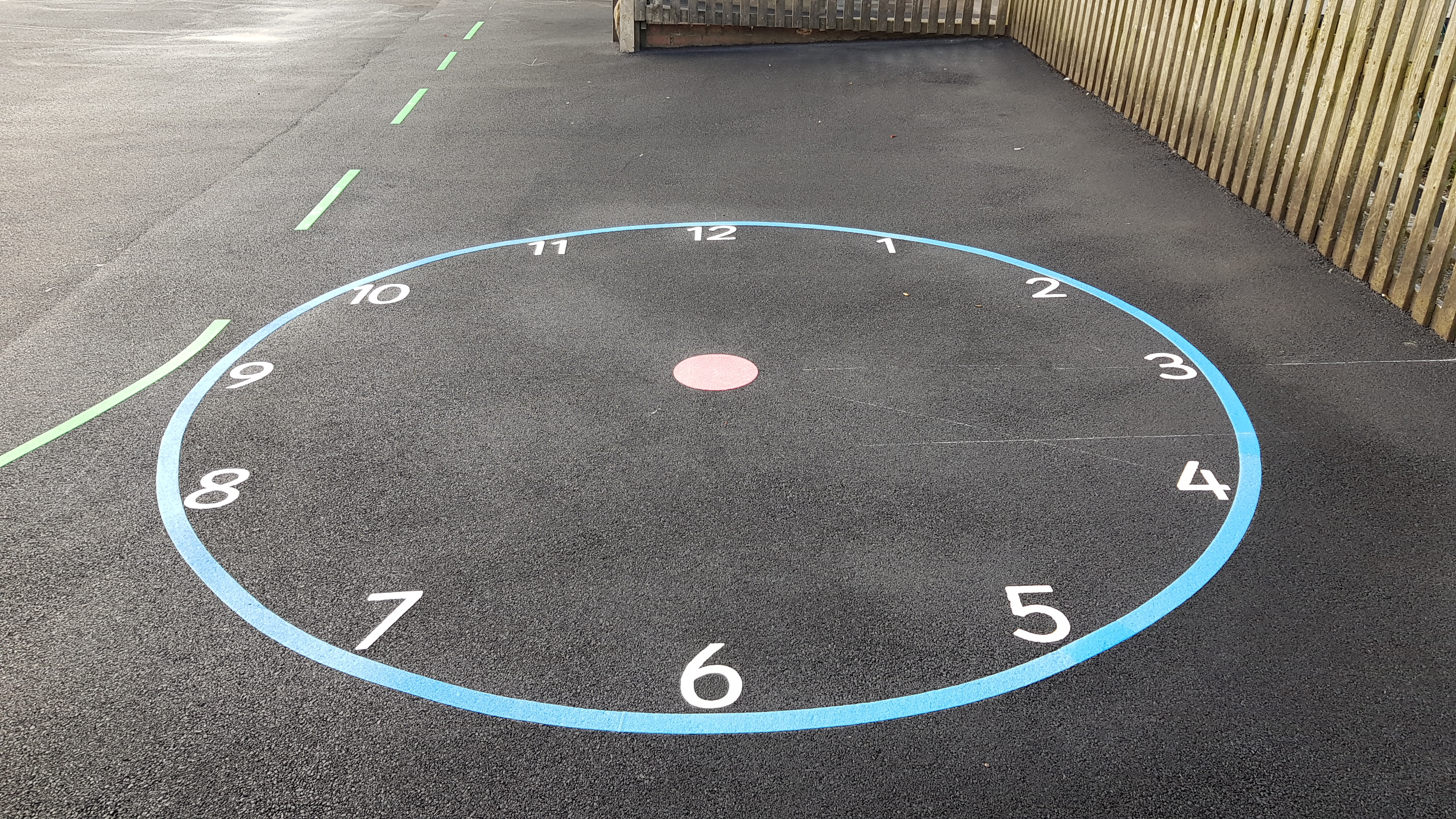 P16 Playground Tarmac Surfacing & Playground Markings at Ashover Primary School in Ashover