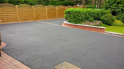 D24  Tarmac Driveway Surfacing with Brindle Block Border at Walton in Chesterfield
