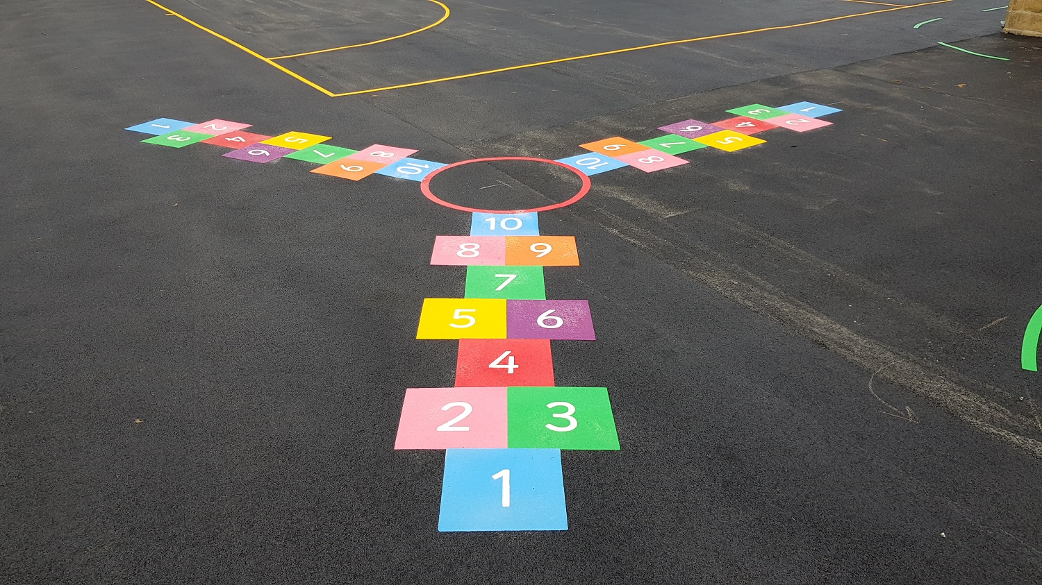 P14 Playground Tarmac Surfacing & Playground Markings at Ashover Primary School in Ashover