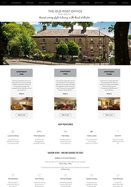 The Old Post Office Holiday Accomodation Website Design