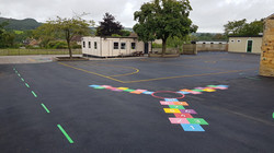 P11 Playground Tarmac Surfacing & Playground Markings at Ashover Primary School in Ashover