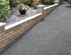 D25  New Driveway Brick Wall  at Wingerworth in Chesterfield