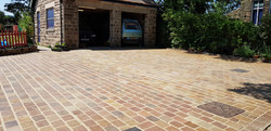 H19 Raj Green Indian Sandstone Cobble Driveway at Walton in Chesterfield