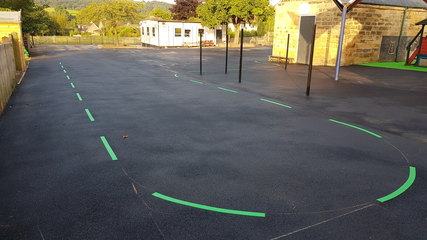 P23 Playground Tarmac Surfacing & Playground Markings at Ashover Primary School in Ashover
