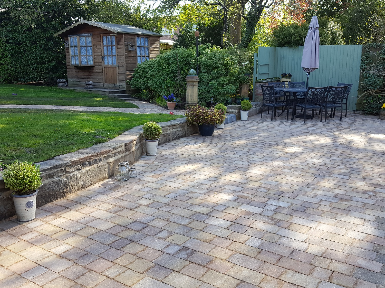 C2 MarshallsTegula Harvest Block Paving Driveway at Brookside in Chesterfield