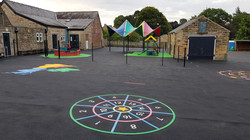 P12 Playground Tarmac Surfacing & Playground Markings at Ashover Primary School in Ashover
