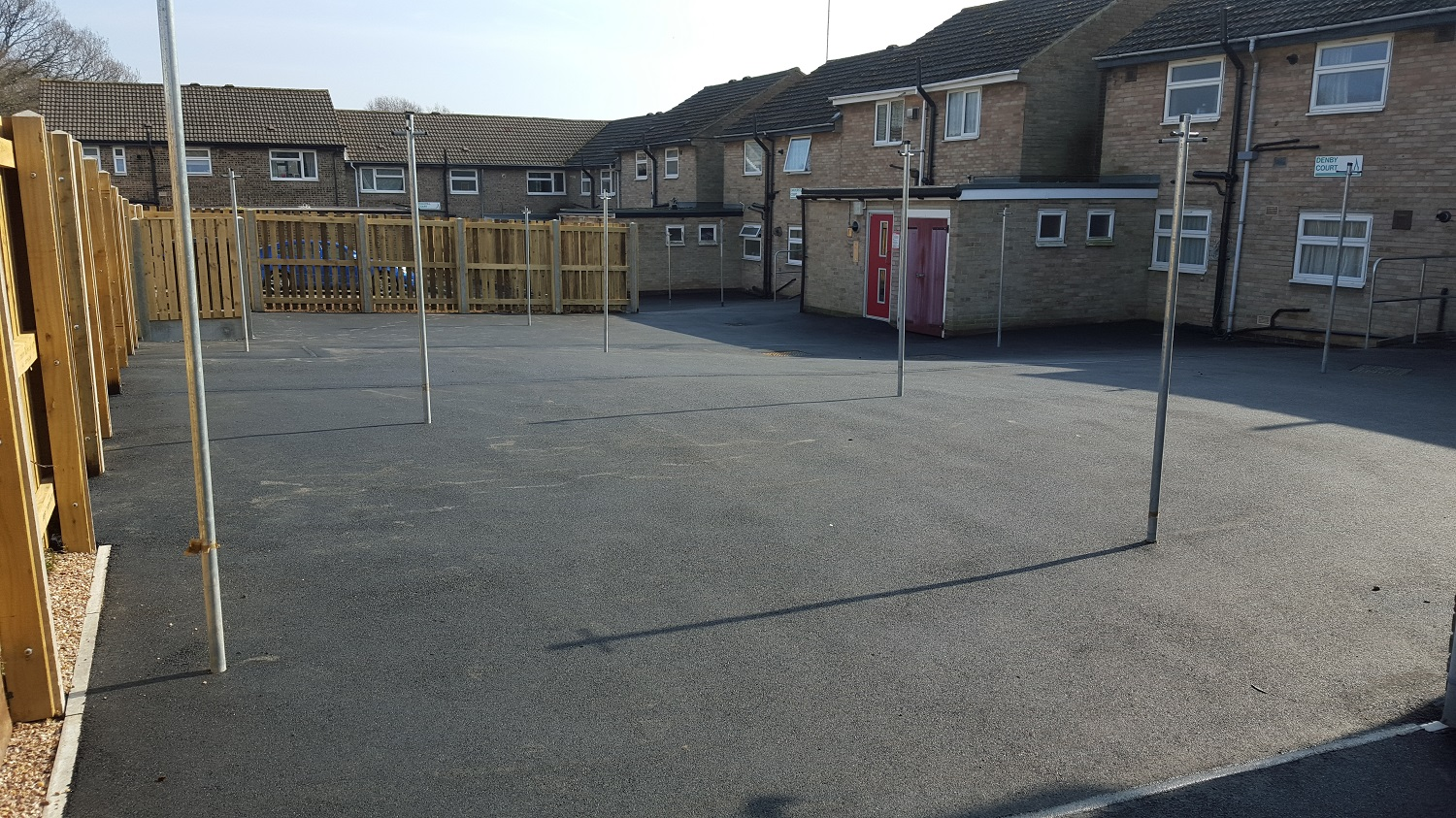 P6 Tarmac Surfacing to Drying Area at Loundsley Green in Chesterfield
