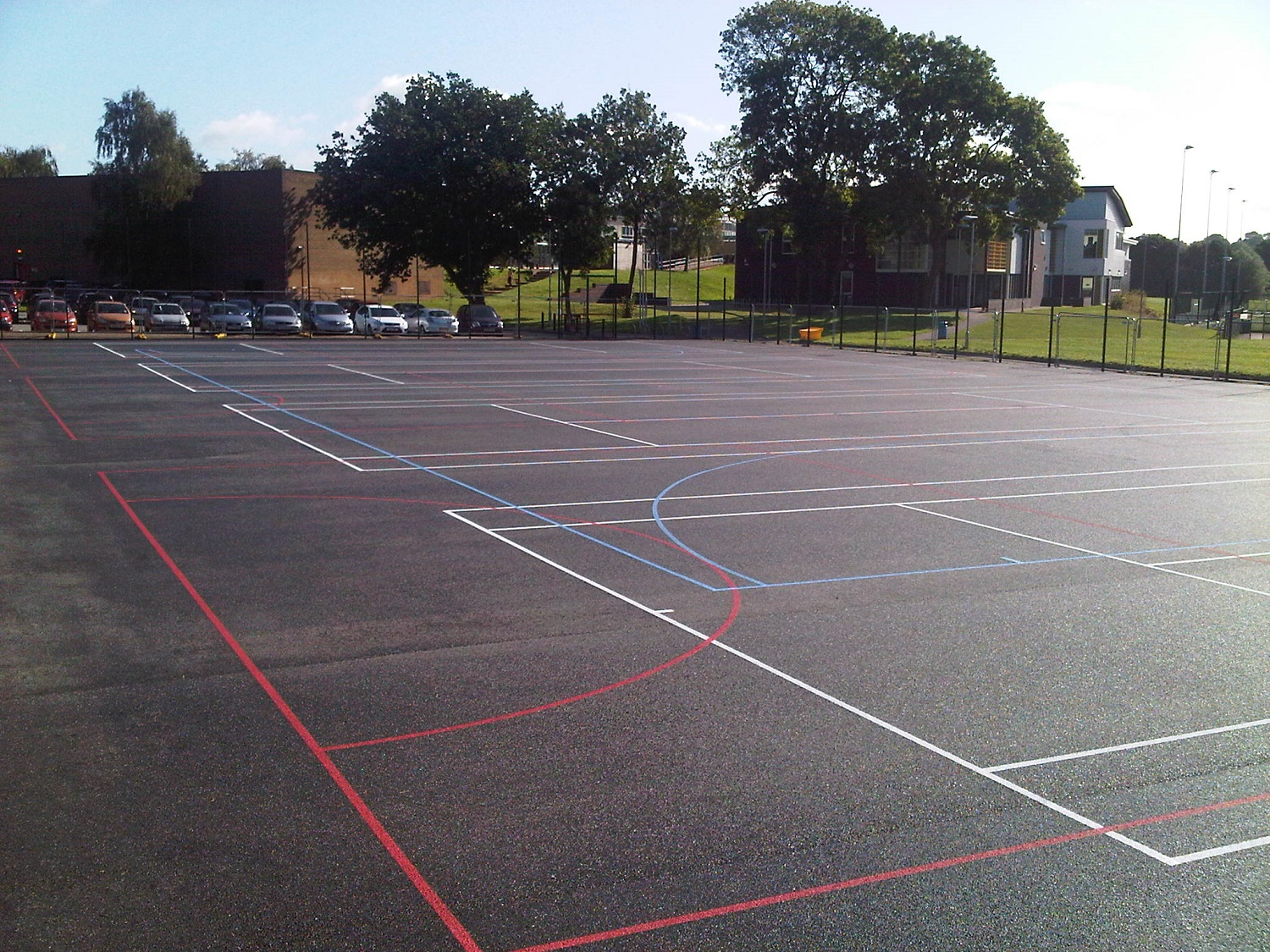 P2 Sports Court Tarmac Surfacing & Sports Court Markings at Chaddesden in Derby