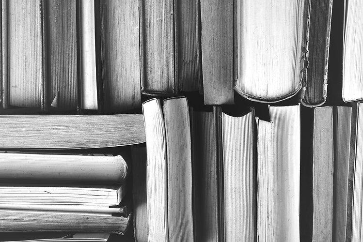 Bookstore Header Image - Bookshelf and Books