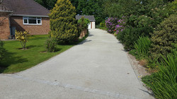 B3 - Resin Bonded Driveway Surfacing at Wingerworth in Chesterfield with Block Border
