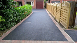 D21  Tarmac Driveway Surfacing with Brindle Block Border at Walton in Chesterfield