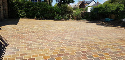 H20 Raj Green Indian Sandstone Cobble Driveway at Walton in Chesterfield