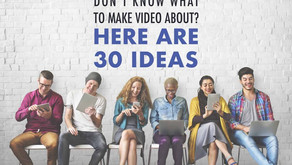 30 Types Of Video To Help Turn Viewers Into Customers