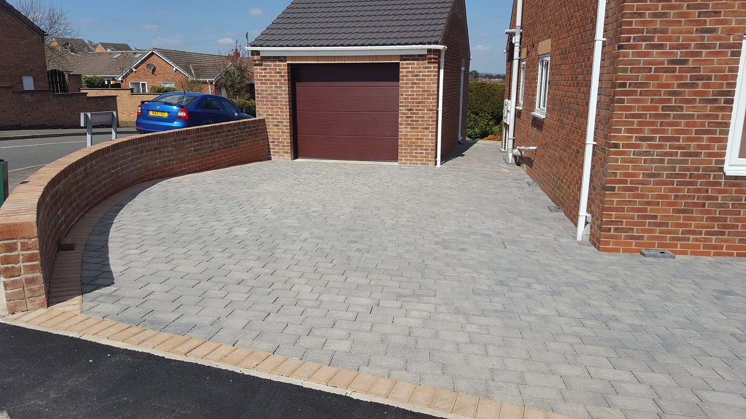 C9 Plaspave Modena Granite Stone Block Paving Driveway at Inkersall in Chesterfield