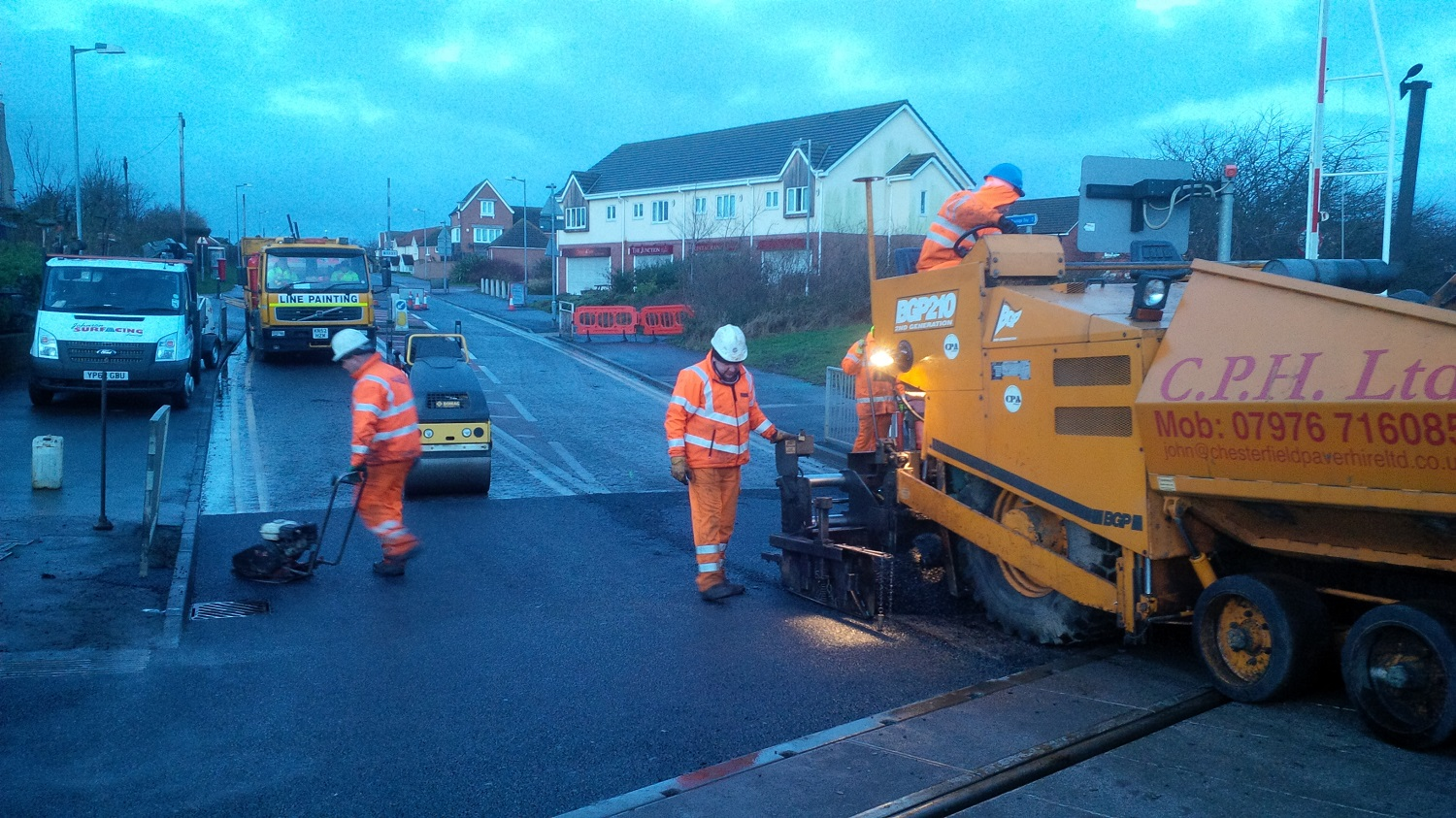 F63 Tarmac Road Surfacing to Network Rail Level Crossing