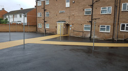 P18 Tarmac and Resin Bound Surfacing to Drying Area at Loundsley Green in Chesterfield