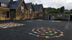 P9 Playground Tarmac Surfacing & Playground Markings at Ashover Primary School in Ashover