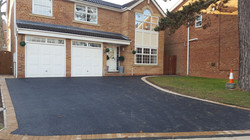 D6  Tarmac Driveway Surfacing with Buff Block Border at Hasland in Chesterfield