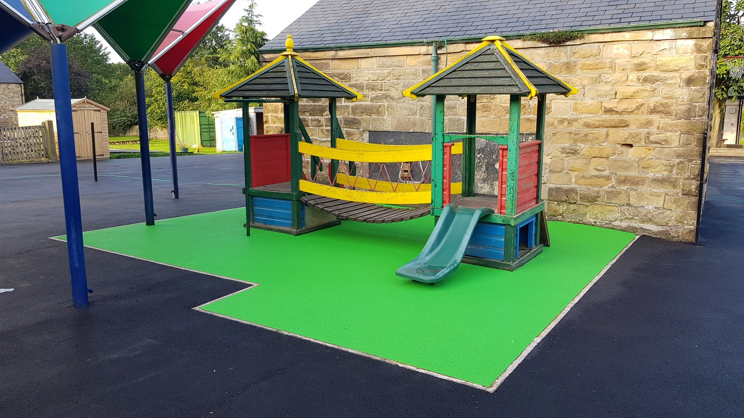 P6 Soft Play Area Surfacing at Ashover Primary School in Ashover
