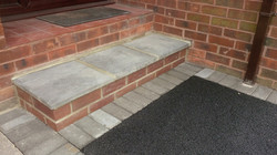 D20  Front Door Step with Charcoal Block Border at Wingerworth in Chesterfield