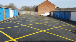 F42  Tarmac Surfacing to Garage Site at Loundsley Green in Chesterfield