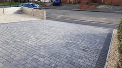 C40 Plaspave Premia Granite Stone Block Paving Driveway at Boythorpe in Chesterfield