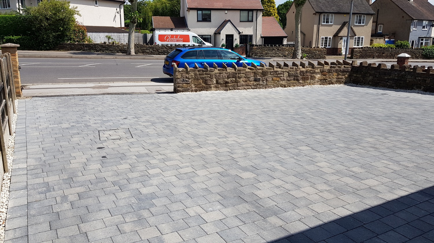 C30 Plaspave Modena Granite Stone Block Paving Driveway at Newbold in Chesterfield