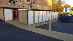 P19 Tarmac and Resin Bound Surfacing to Drying Area at Loundsley Green in Chesterfield