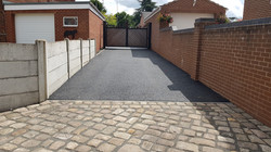 D48  Tarmac Driveway Surfacing with Stone Cobble Entrance at Pilsley in Chesterfield