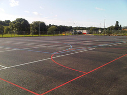 P3 Sports Court Tarmac Surfacing & Sports Court Markings at Chaddesden in Derby