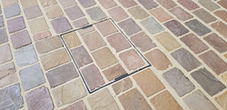 H23 Raj Green Indian Sandstone Cobble Driveway at Walton in Chesterfield