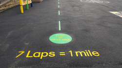 P20 Playground Tarmac Surfacing & Playground Markings at Ashover Primary School in Ashover