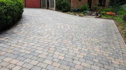 C26 Plaspave Sorrento Granite Stone and Sarsen Stone Block Paving Driveway at Linacre Woods in Chest