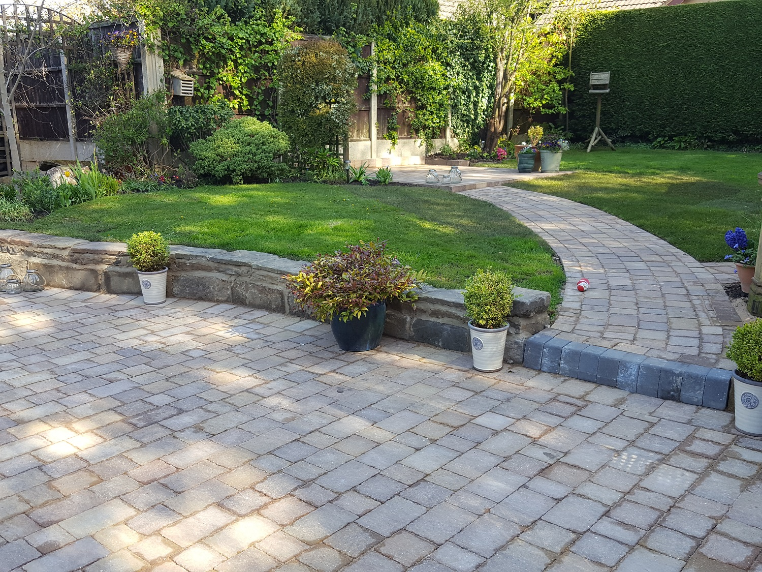 C3 MarshallsTegula Harvest Block Paving Driveway at Brookside in Chesterfield