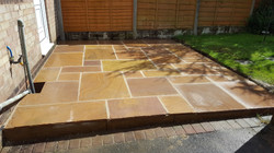 H3 Gold Leaf Indian Sandstone Paving Patio at Linacre Woods in Chesterfield