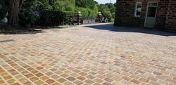H21 Raj Green Indian Sandstone Cobble Driveway at Walton in Chesterfield