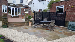 H7 Raj Green Indian Sandstone Paving Patio at Brookside in Chesterfield