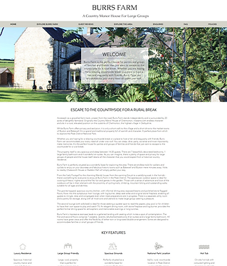 Burrs Farm Holiday Accommodation Website Design